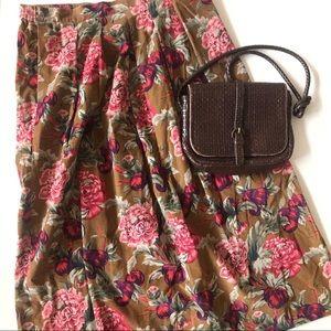 Floral Vintage Midi Skirt Sz 12 ✨